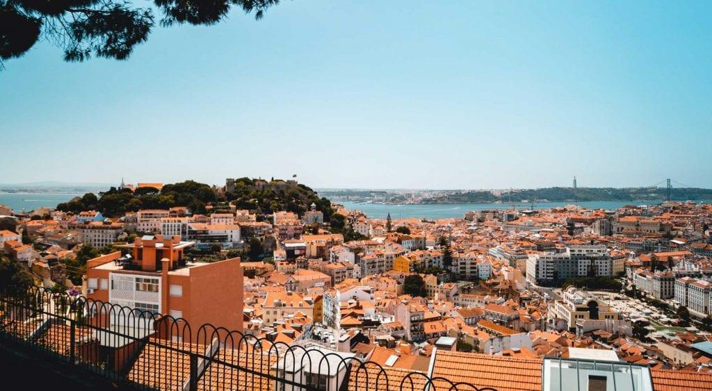 landscape view over lisbon
