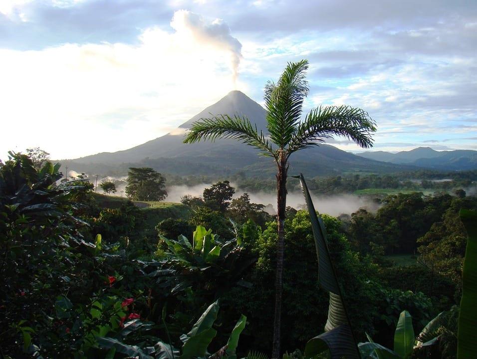 rainforest costa rica vulcano nature landscape view